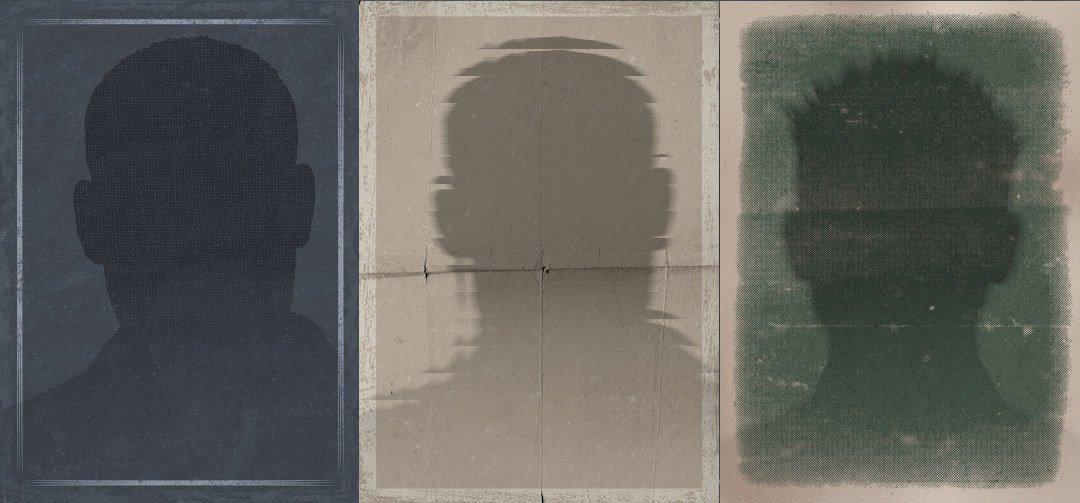 silhouette of three unidentifiable men