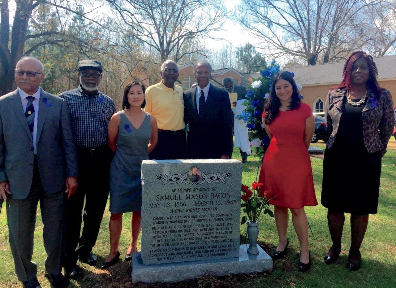 Commemoration for Samuel Mason Bacon (Natchez, MS)